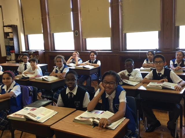 Holy Family Catholic Academy students in classroom