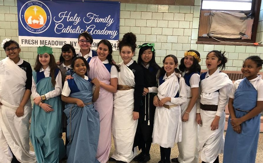 Holy Family Catholic Academy students