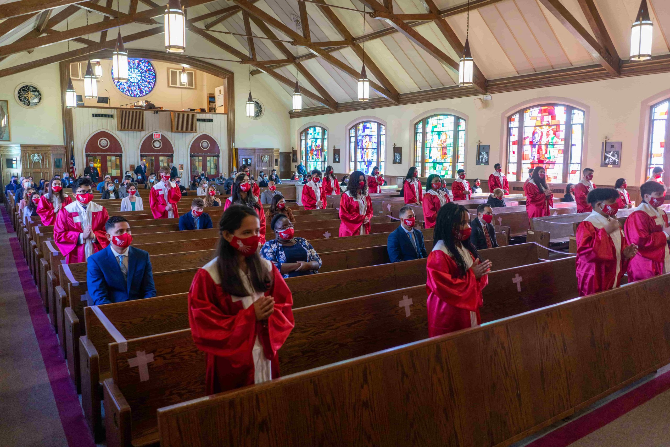 student receiving confirmation